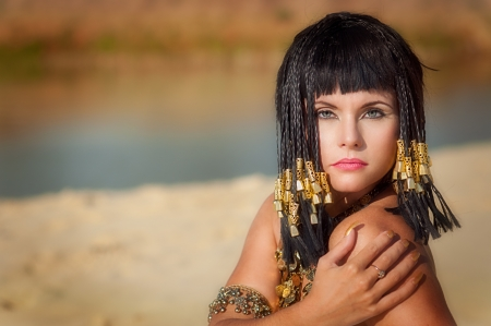egyptian: Egyptian Queen Stock Photo