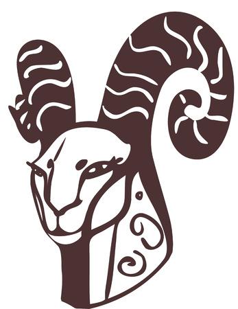 goat head: Goat head Illustration