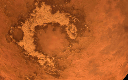 far and away: Mars  Scientific illustration - texture of far away planet  in deep space