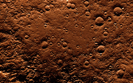 barren: Mars  Scientific illustration - texture of far away planet  in deep space