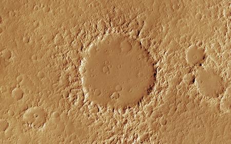 barren land: Mars  Scientific illustration - texture of far away planet  in deep space