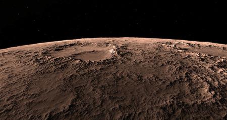 beautyful: Moon scientific illustration - calm beautyful moon landscape Stock Photo