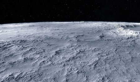 Luna ilustración científica - tranquilo paisaje luna beautyful Foto de archivo - 38512132