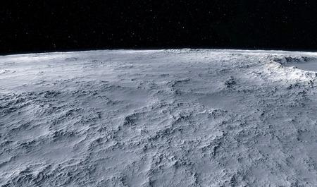 Moon scientific illustration - calm beautyful moon landscape Standard-Bild