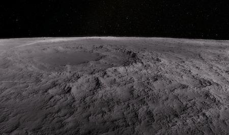Moon scientific illustration - calm beautyful moon landscape Archivio Fotografico