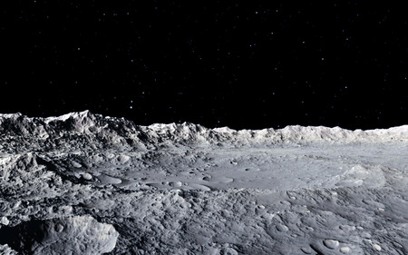 Moon scientific illustration - calm beautyful moon landscape Foto de archivo