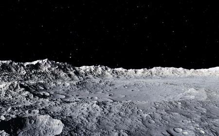 Lune illustration scientifique - calme paysage lunaire beautyful Banque d'images - 38512222