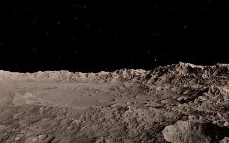 superficie: Luna ilustración científica - tranquilo paisaje luna beautyful Foto de archivo