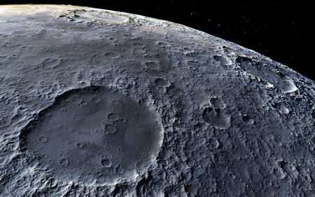 月の科学イラスト - 穏やかな美しい月の景観