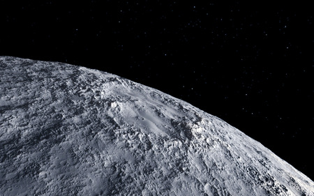Luna ilustración científica - tranquilo paisaje luna beautyful Foto de archivo - 38512231