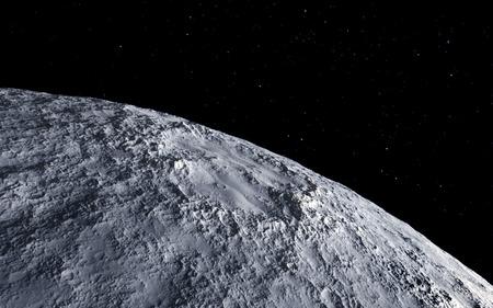 Moon wetenschappelijke illustratie - kalm beautyful maanlandschap