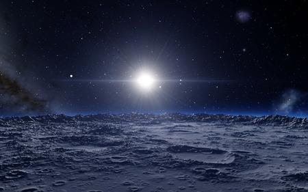 Moon scientific illustration - calm beautyful moon landscape 写真素材