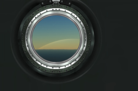 heaven and earth: Saturn or alien planet view from spaceship .