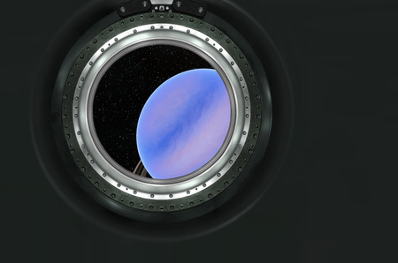 heaven on earth: Saturn or alien planet view from spaceship .