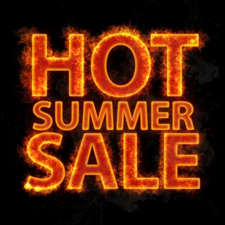 불 같은 뜨거운 여름 판매 디자인 템플릿입니다. 기치