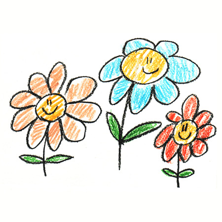 Colorful picture with happy kids. Kids drawing style 版權商用圖片 - 42898101