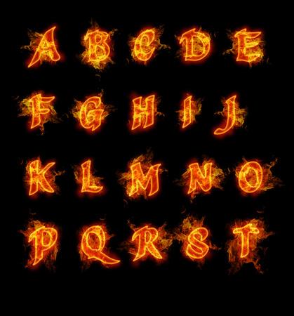 Fire font collectie. Ideaal voor vakantie, vintage of industriële ontwerpen.