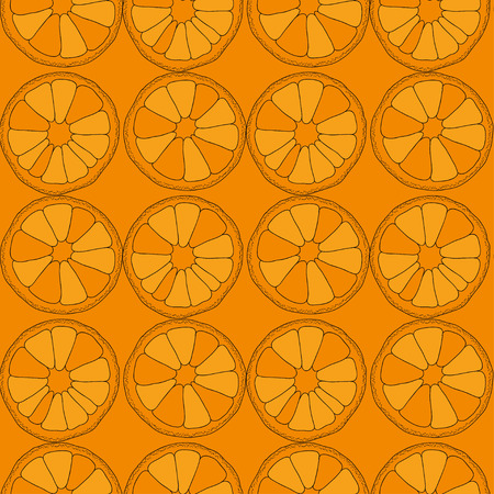 agriculture wallpaper: Citrus seamless pattern. Vector oranges isolated on color background.