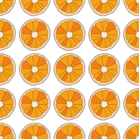 turquiose: Citrus seamless pattern. Oranges isolated on white background. Illustration