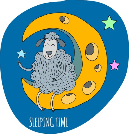 snore: Lets count sheeps before youll sleep. Sheep on the Moon