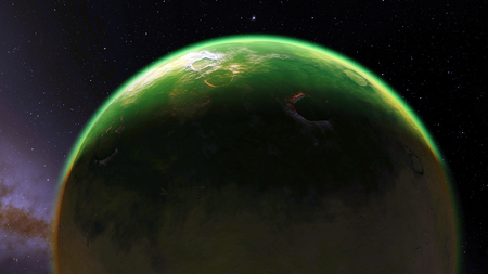 nibiru in space: Image of fantastic planet Procedural generatet 3d picture