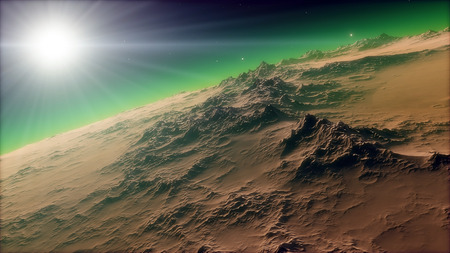 Image of fantastic planet Procedural generatet 3d picture