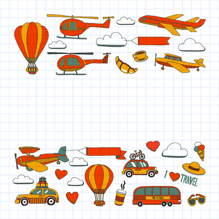 catalogs: Hand drawn images Travel adventure balloon For any kind of design Illustration