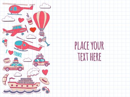 どのようなデザインの手描き画像旅行冒険バルーン