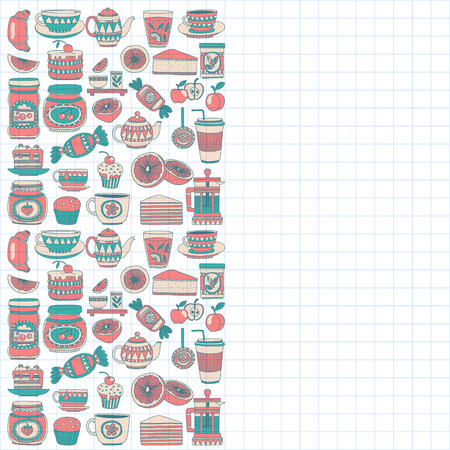 confectionery: Images for confectionery or coffee shop Hand drawn images