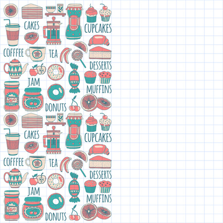 goody: Images for confectionery or coffee shop Hand drawn images