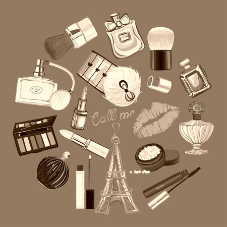 goodliness: Hand drawn images Cosmetics and Perfume For any kind of design