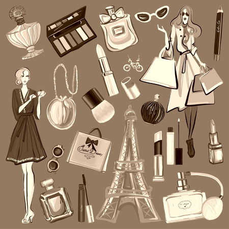 presence: Hand drawn images Cosmetics and Perfume For any kind of design
