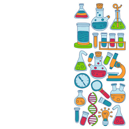 stinks: Chemistry Pharmacology Natural sciences Vector doodle set Hand drawn images