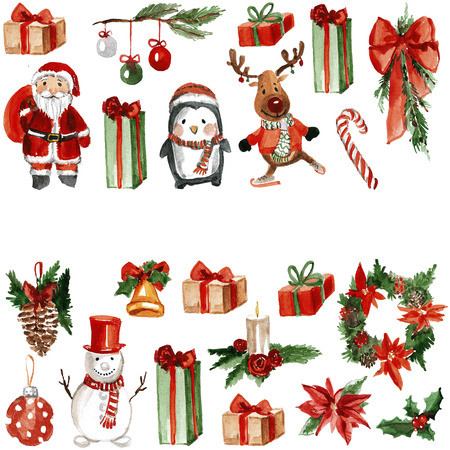 Merry Chrismtas Holly Jolly Hand drawn image
