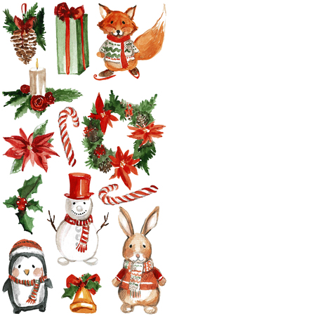 jolly: Merry Chrismtas Holly Jolly Hand drawn image