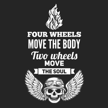 heavy: Vector hand drawn quote about motorcycles and bikers Illustration