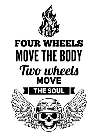 Four wheels move the body Two wheels move the soul Stok Fotoğraf - 61434124