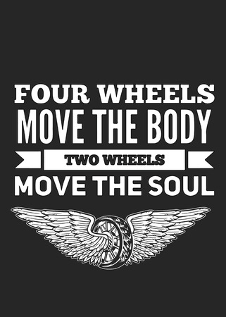 Four wheels move the body Two wheels move the soul Stok Fotoğraf - 61434127