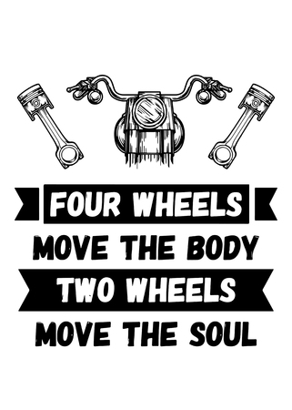 Four wheels move the body Two wheels move the soul Stok Fotoğraf - 61434129