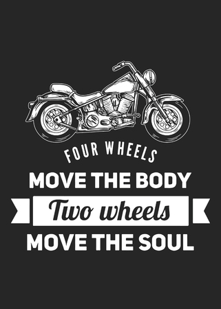 Four wheels move the body Two wheels move the soul Stok Fotoğraf - 61433538