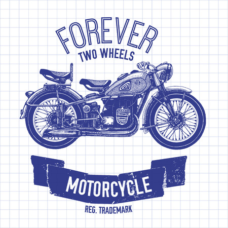 spares: Hand drawn vector motorcycle quote for any kind of design