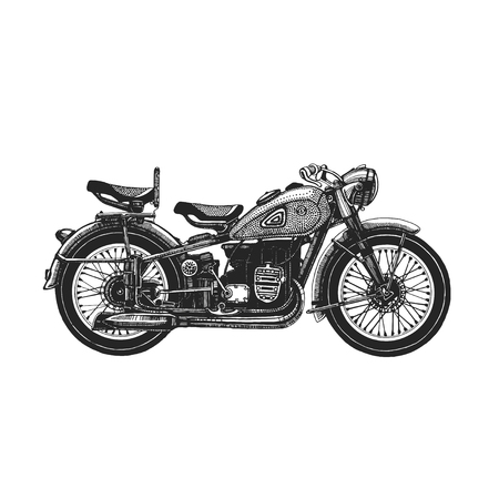 Motorcycle hand drawn icon   For any kind of design