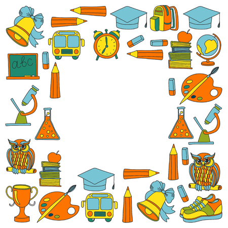 univercity: School and education icons Hand drawn images