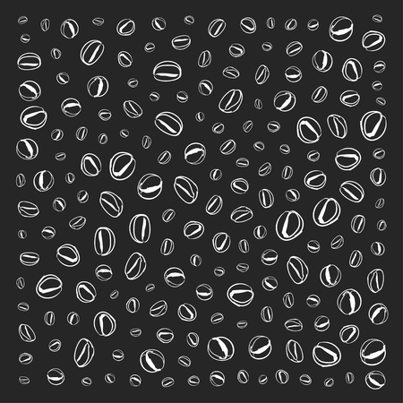 arabica: Pattern with coffee beans Vector doodle picture