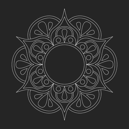 Vector Mandala Oriental Ornament Standard-Bild - 63908397
