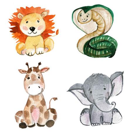Animales lindos para el jardín de niños, cuarto de niños, ropa para niños, modelo para el jardín de niños, cuarto de niños, ropa para niños, patrón de los niños, fiesta de bienvenida al bebé
