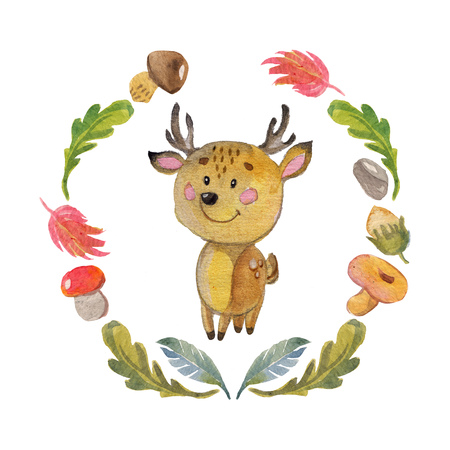 Cute baby animal for kindergarten, nursery, children clothing, kids patterns, baby shower, invitation