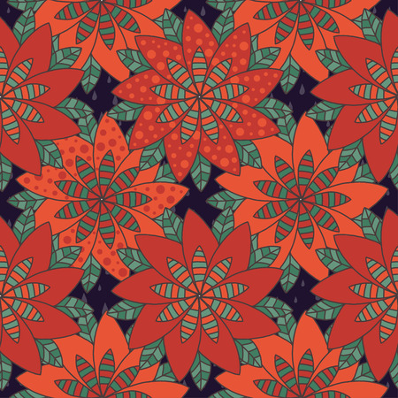 segmented: Colorful VECTOR mandala flower pattern