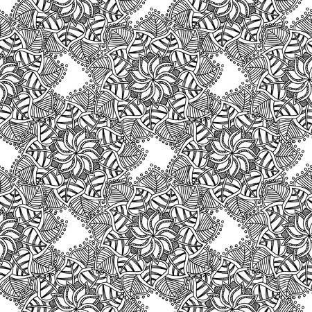 Decorative Pattern For Adult Coloring Book, Wallpapers Hand Drawn ...
