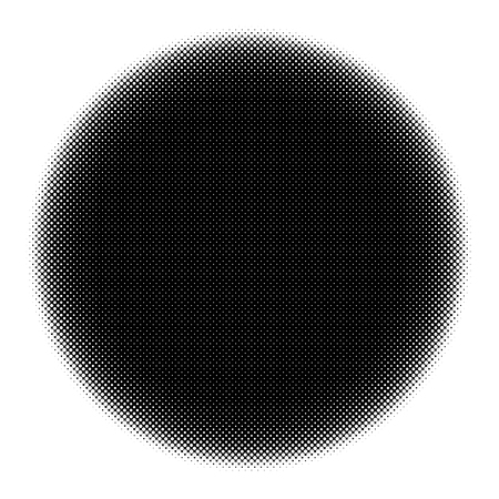 Halftone circles, halftone dot pattern Vector picture